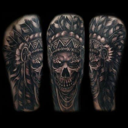 Tattoo teschio indiano