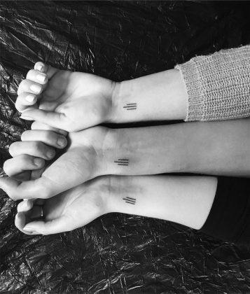 tattoo amicizia by @ta_terka