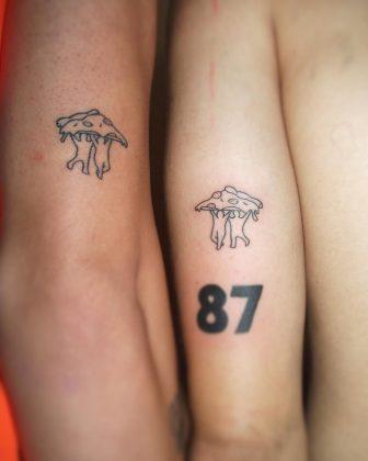 tattoo amicizia by @tattoo_by_santos