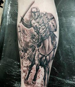tattoo-cavallo-by-@devilztattoozlokesh