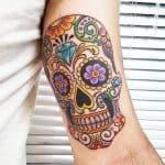 tatuaggio teschio messicano