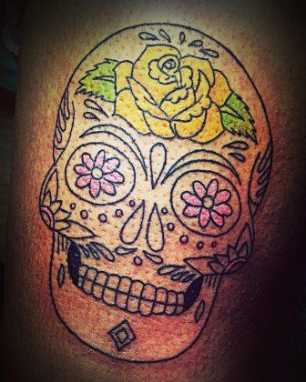 teschio messicano delicato by @zenaink_tattoo
