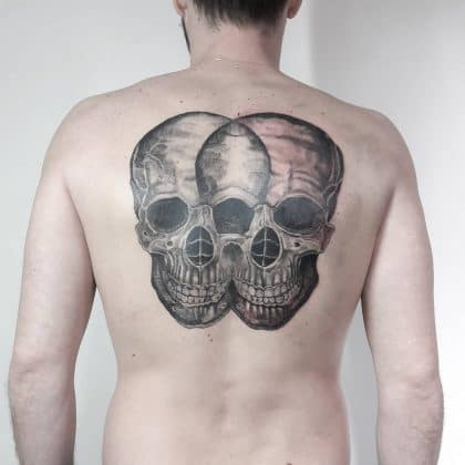 Tattoo teschio schiena