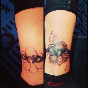Tattoo-cover-up-caviglia-by-@grandtattoohurghada