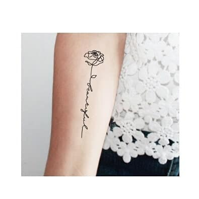 fiore stilizzato tatuaggio by @tattooday