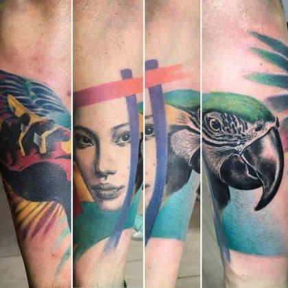 tatuaggio pappagallo