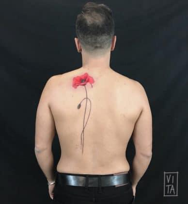 papavero tatuaggio