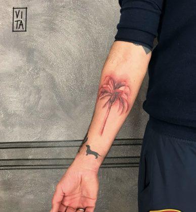 tattoo palma rossa
