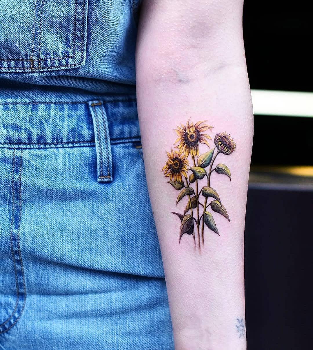 girasoli tattoo by @bangbangnyc
