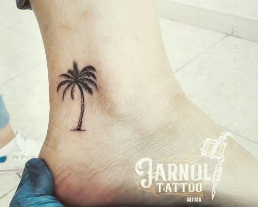 tattoo palma caviglia