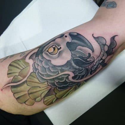 tattoo pappagallo