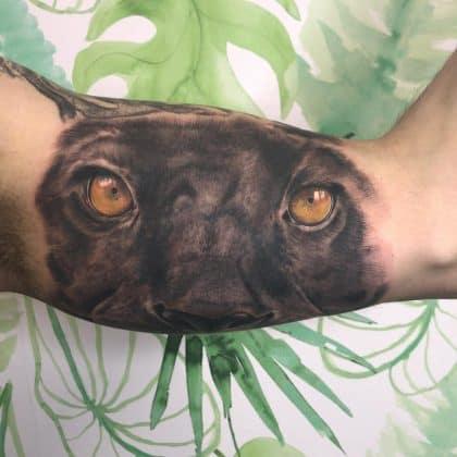 tattoo pantera sguardo