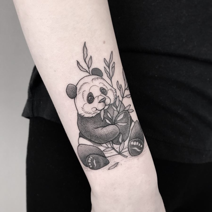 panda tattoo by @lordenstein_art
