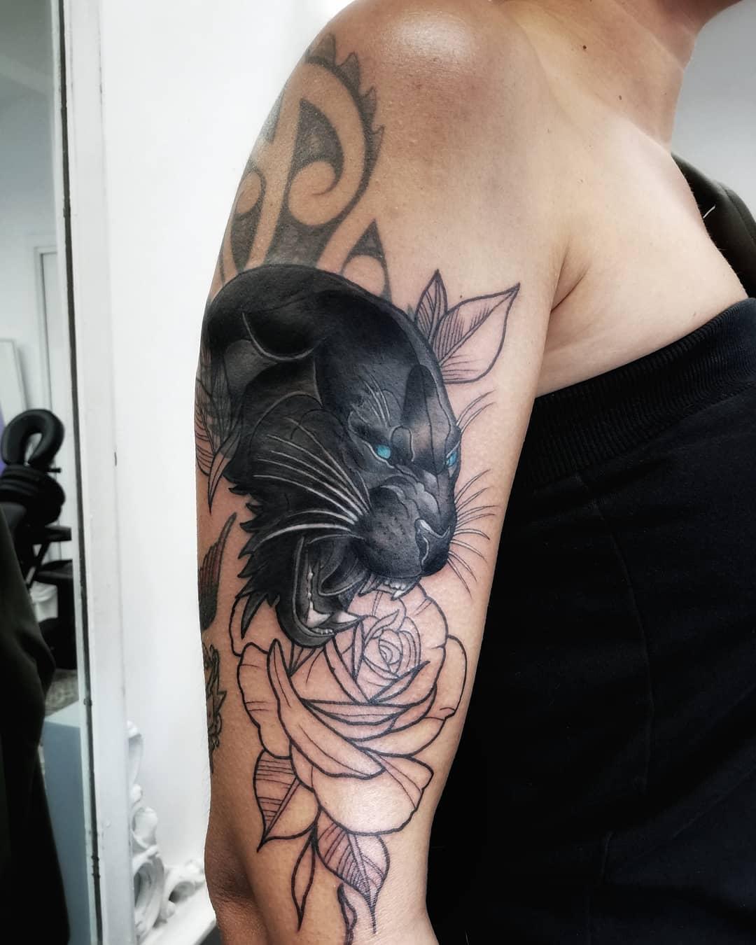 pantera tatuaggio by @caterinabogan