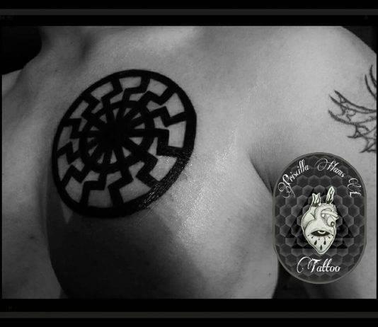 simboli religiosi sole negro tattoo by @hxctattoogirls13