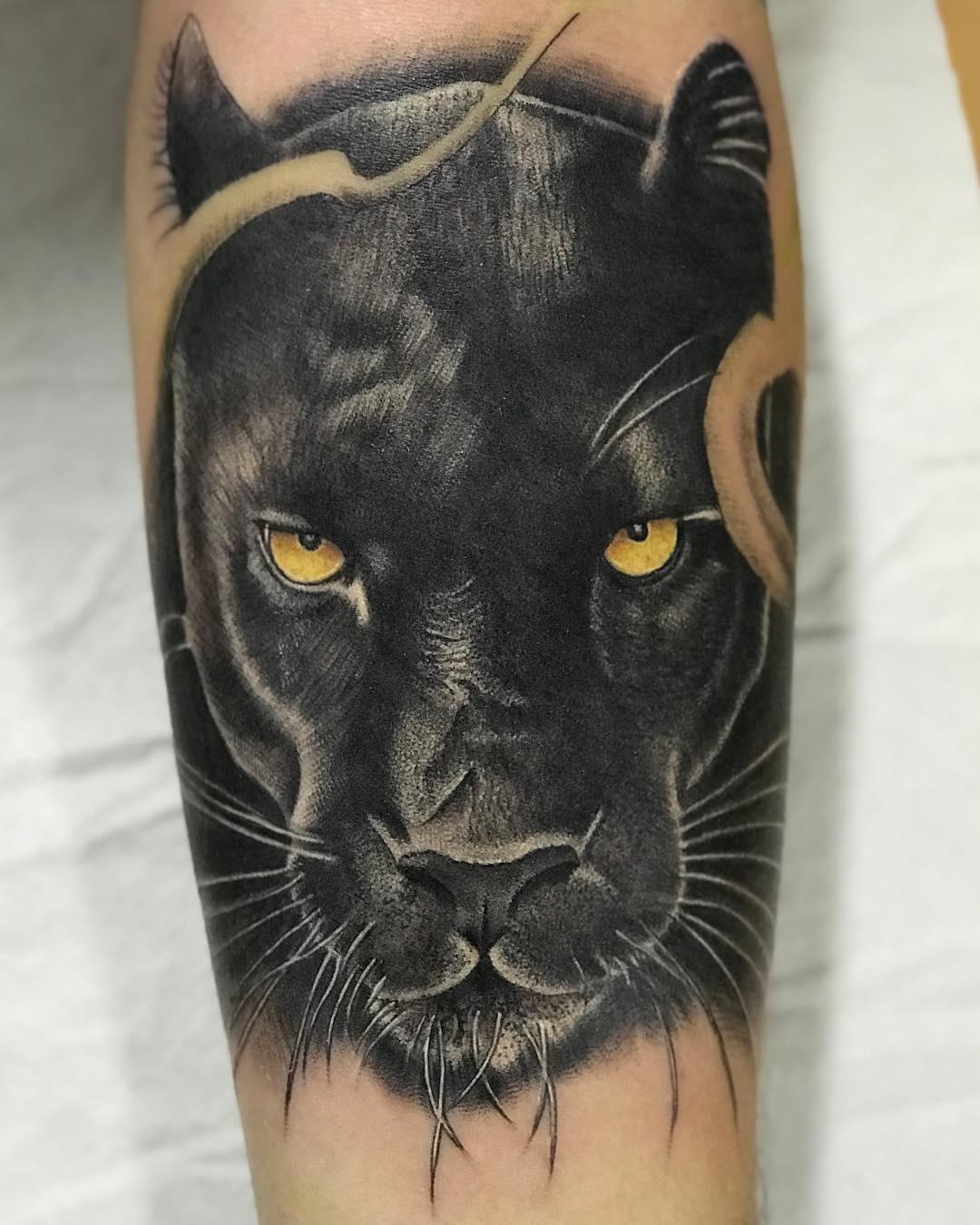 tattoo pantera by @brianfernandeztattoo