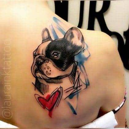 tattoo-cuore-cane-by-@laurainktattoo