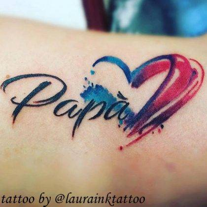 tattoo-cuore-papa-by-@laurainktattoo