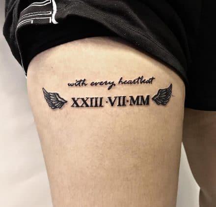 tattoo data dedicata la figlio