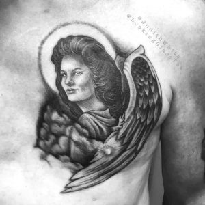 tattoo guardian angel by @judithwhite