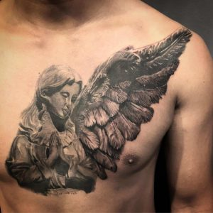 tattoo guardian angel by @mhtattooz