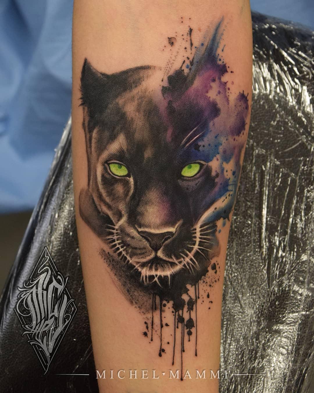 tattoo pantera by @michelmammitattoo