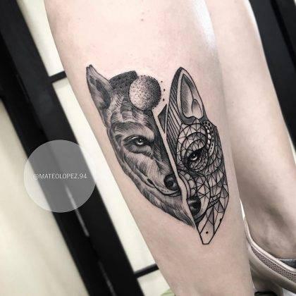 tatuaggio lupo