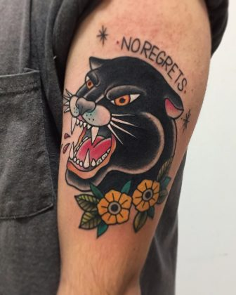 tattoo pantera old school
