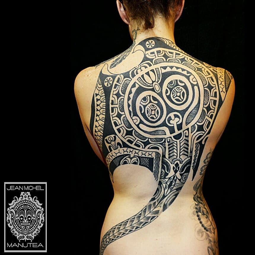 tattoo tribali femminili by@jeanmichelmanutea