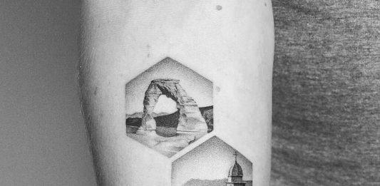 tatuaggi paesaggi
