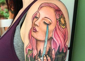 tatuaggio madre natura by @klwtattoos