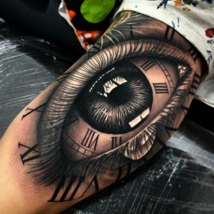 big eye tattoo by @pulgamarconetto