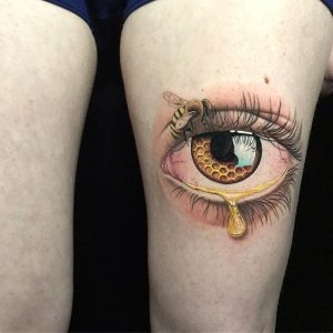 honey eye tattoo by @nik_wolf