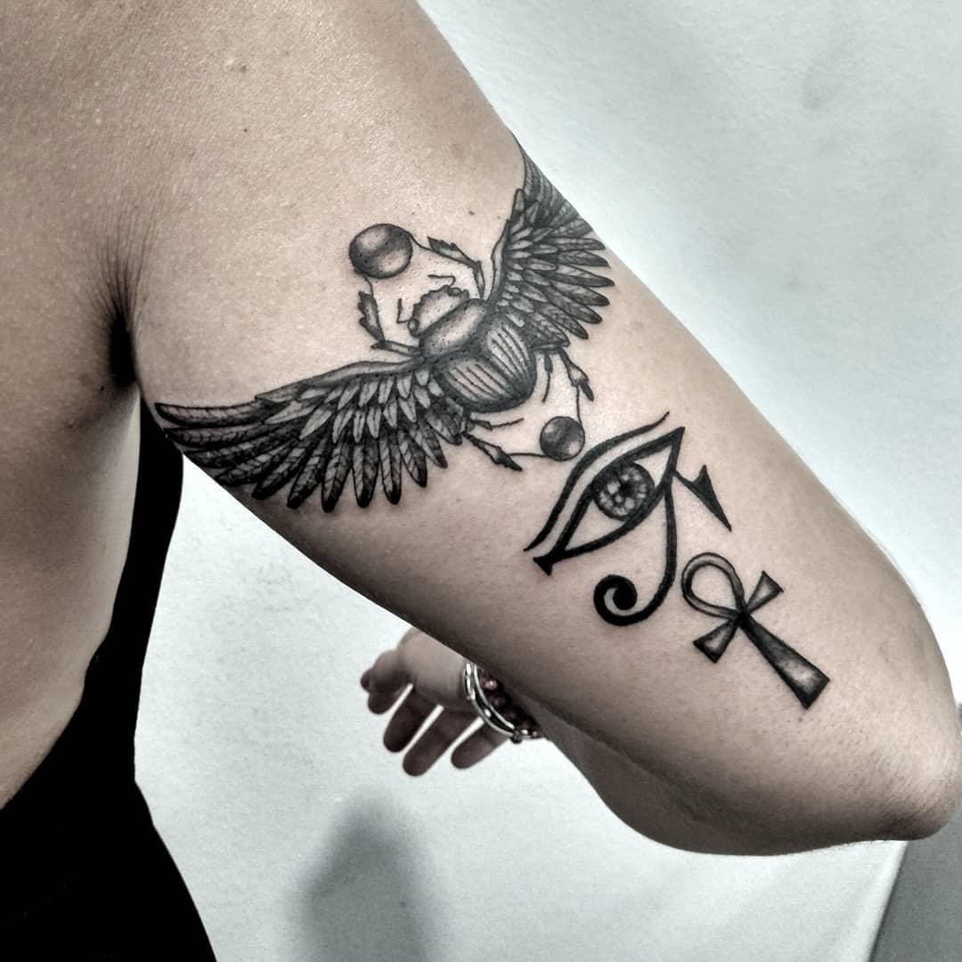 tattoo horus occhio by @ariadna.pedemonte