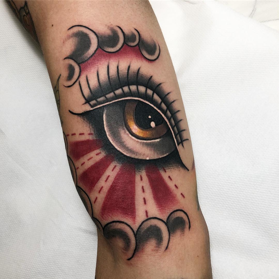 tattoo occhio by @giovanni_bracciodieta_bd