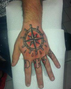 rosa dei venti tattoo by @sichnoname