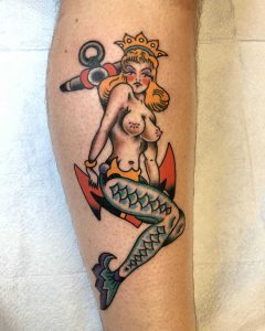 sirena tattoo by @taylortat2