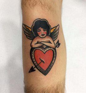 tattoo cuore angelo by @dangertattooer