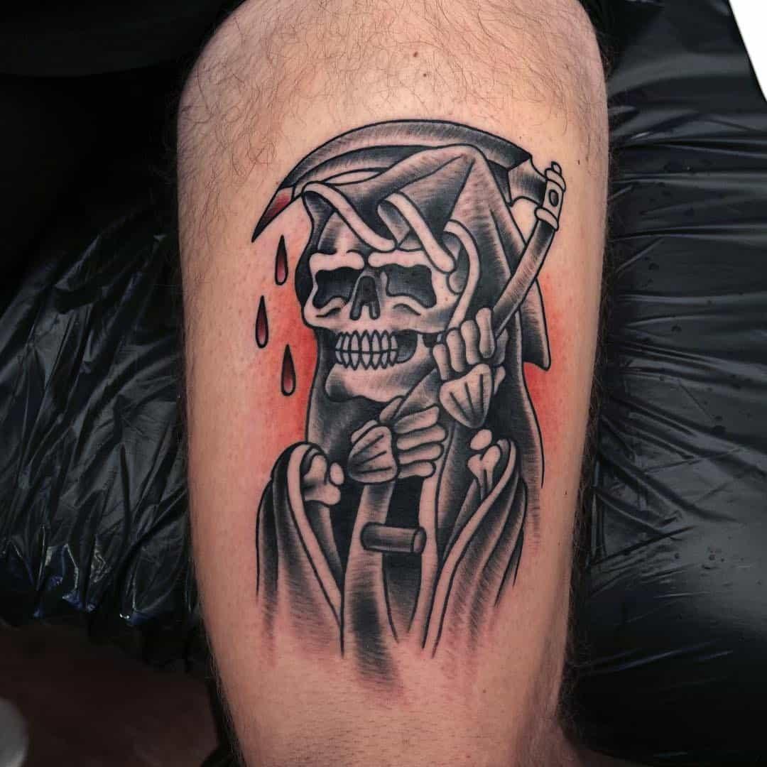 teschio tattoo by @tat.genesis
