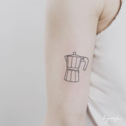 tattoo stilizzato caffe by @bymosler