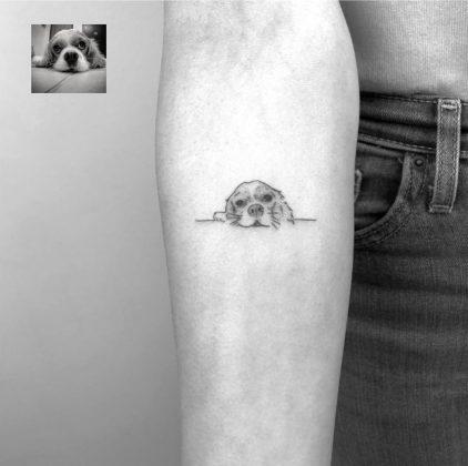 tattoo stilizzato cagnolino by @cagridurmaz