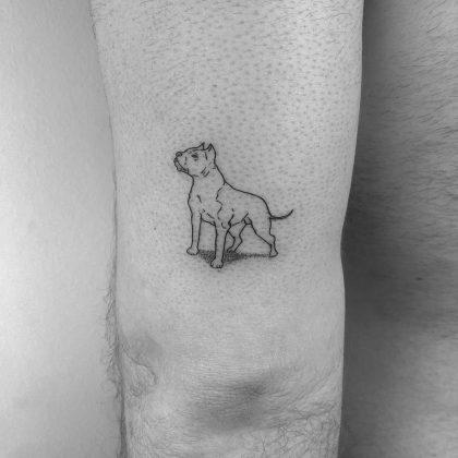 tattoo stilizzato cane by @cagridurmaz