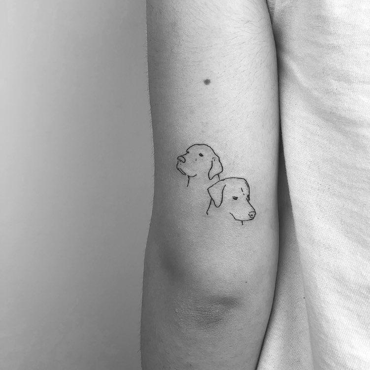 tattoo stilizzato cani by @cagridurmaz