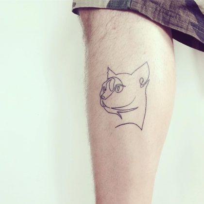 tattoo stilizzato gatto by @bymosler