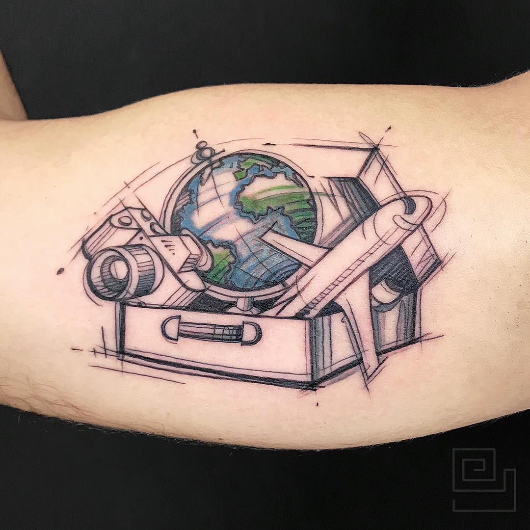 tattoo aereoplano by @antonellogurrado