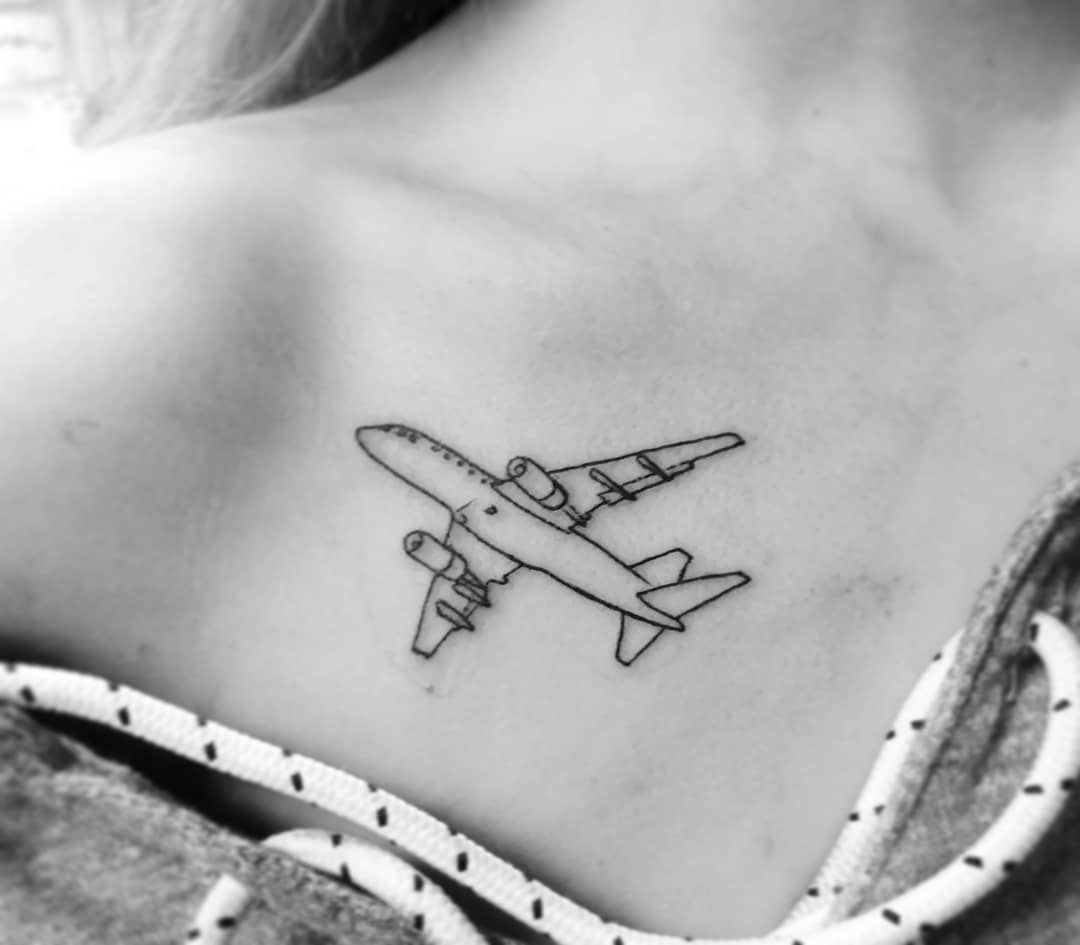tattoo aereoplano by @josephblackstone