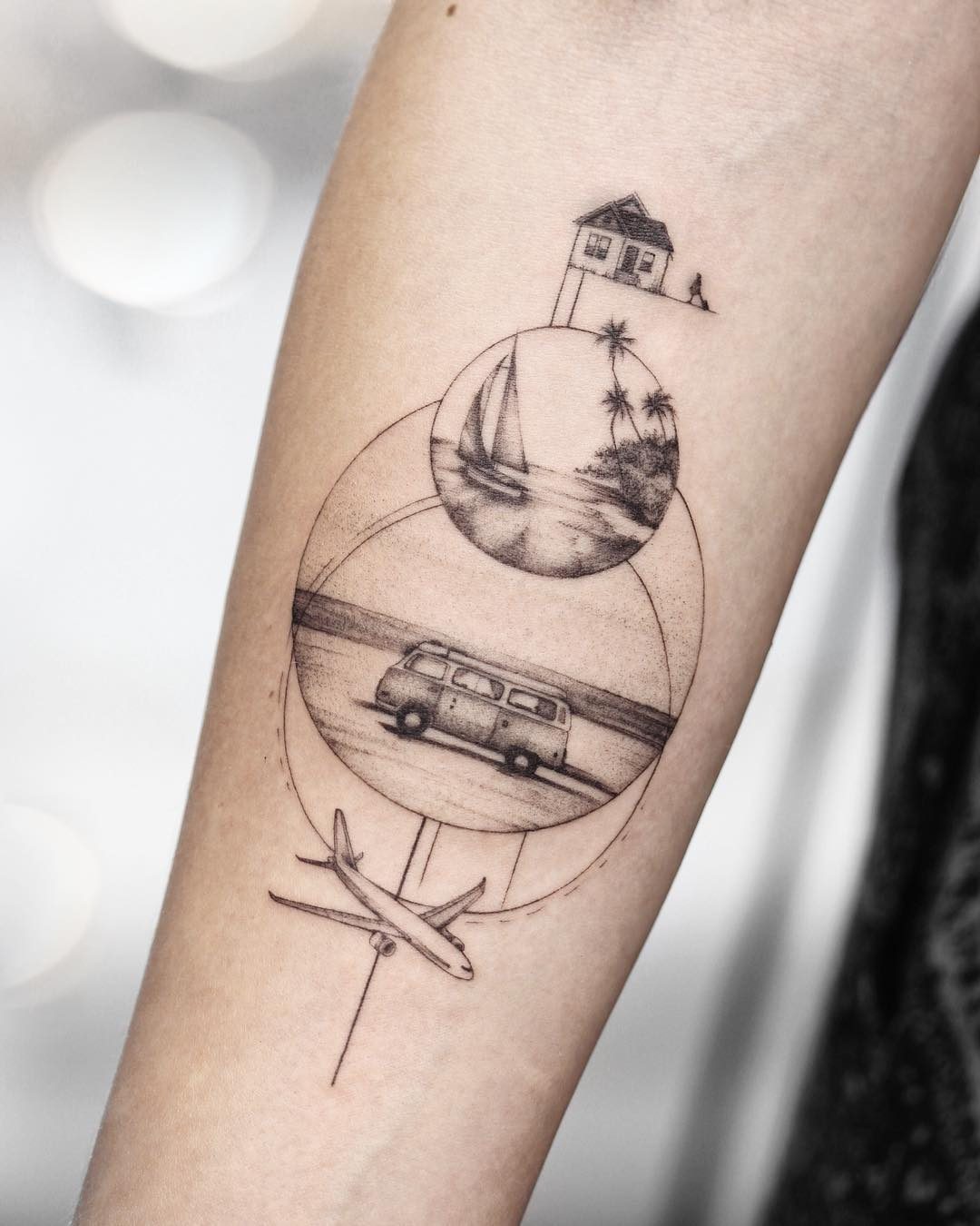 tattoo aereoplano by @mrtnv