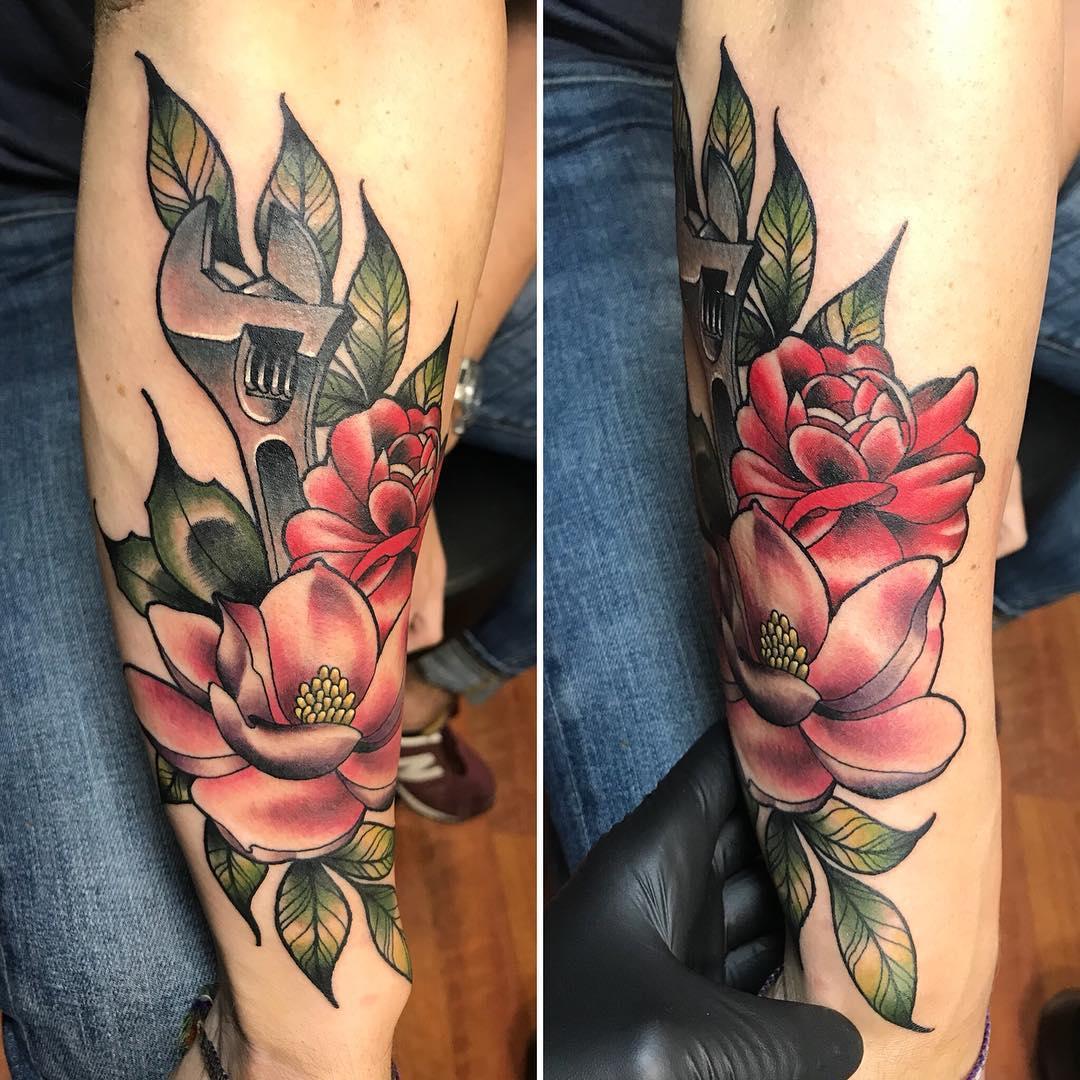 tattoo chiave inglese by @tattoosbyolivia