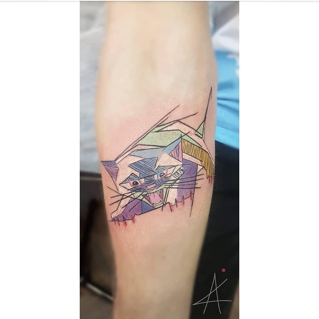Tattoo gatto by @al.x.sss