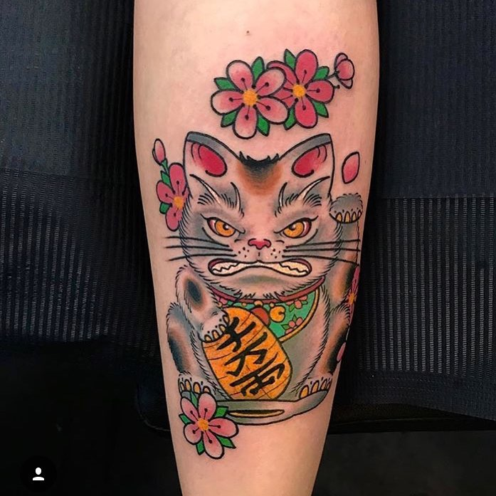 Tattoo gatto by @giahiwinterthur